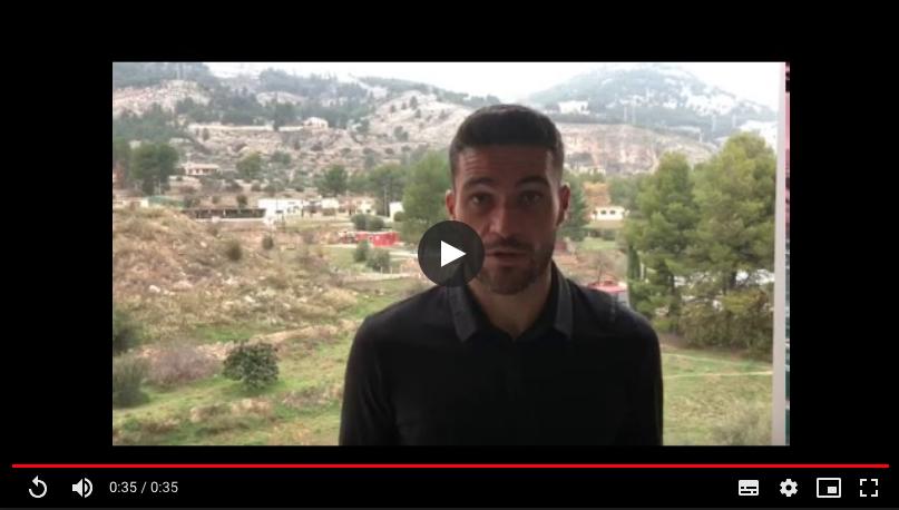 Jorge Molina jugador del Getafe os anima a participar en el proyecto SangValentí